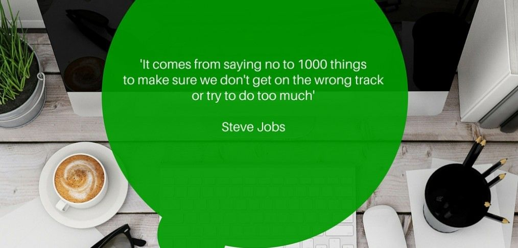 Steve Jobs quote, saying no