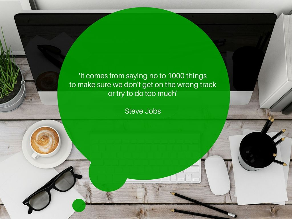 Saying No, Steve Jobs quote