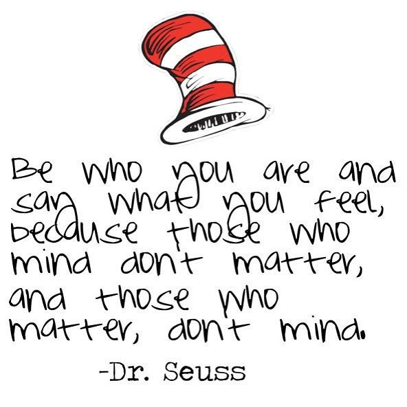 dr seuss be who you are