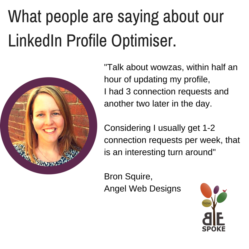 LinkedIn Profile Optimiser Testimonial
