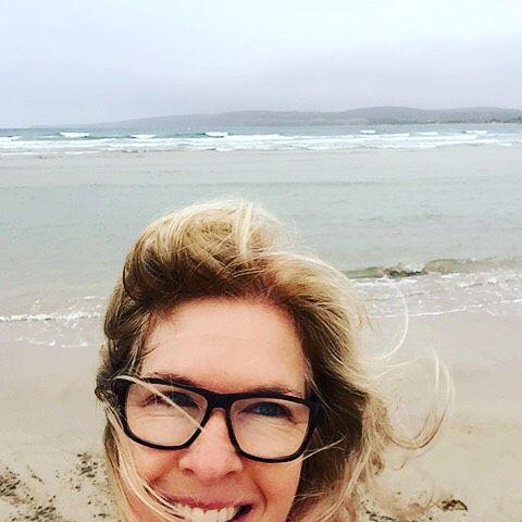 jane at beach