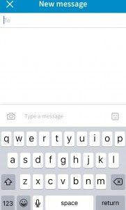 Messaging via the LinkedIn Mobile App