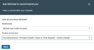 how to add recommendations on linkedin