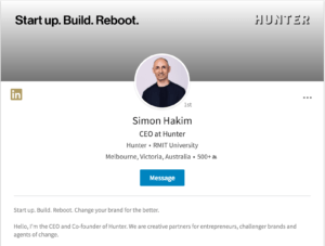 Simon Hakim, CEO Hunter