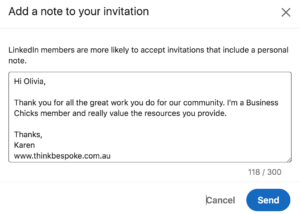 how to personalise your invite to connect on linkedin
