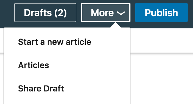 how to review the draft of your linkedin article before publishing