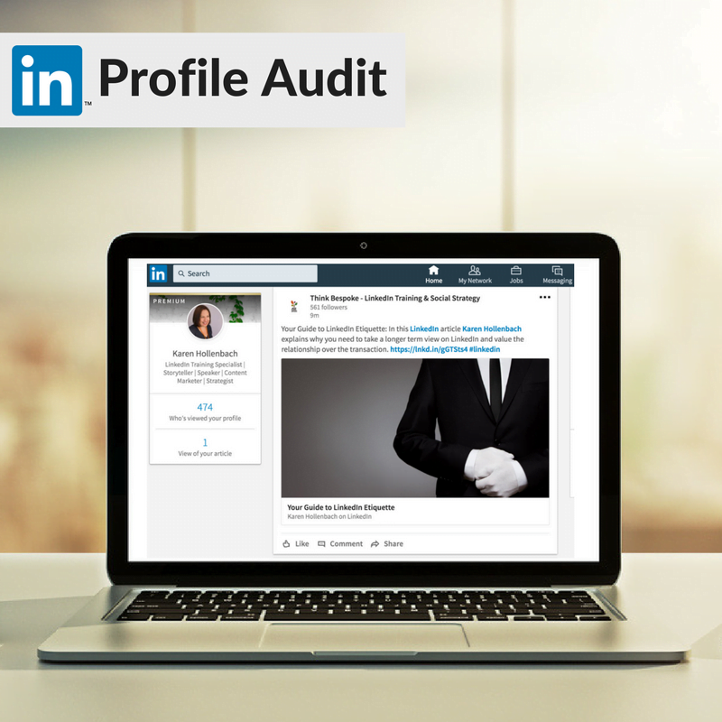 LinkedIn Profile audit laptop