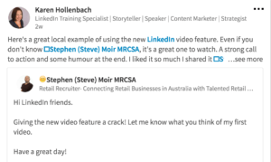 how to leverage the linkedin video feature