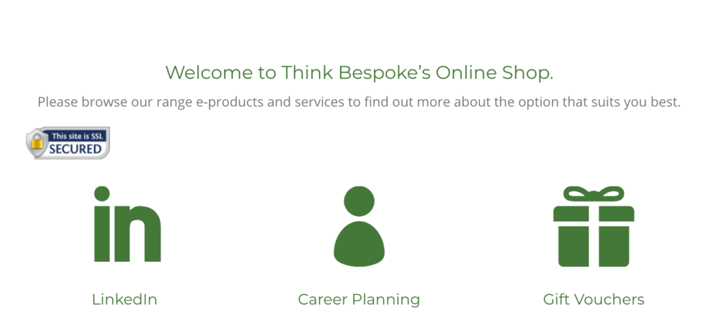 think bespoke online shop