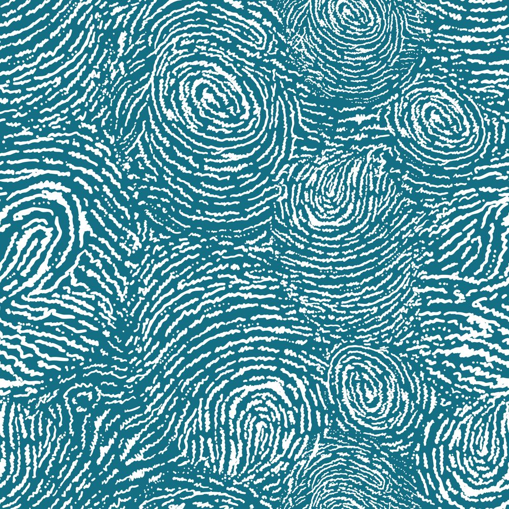 Finger print texture seamless pattern background