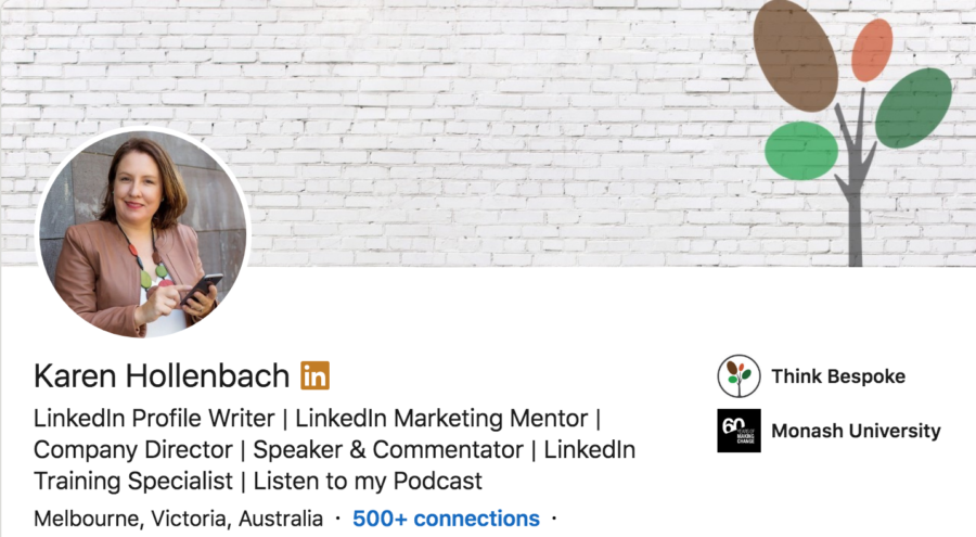 example of linkedin profile photo and background image