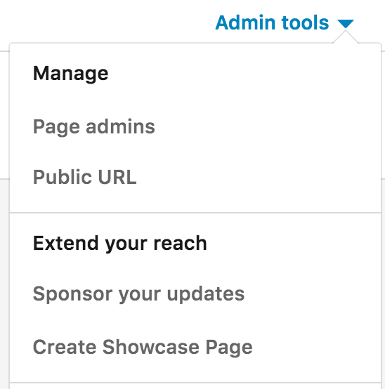mamanging admins with a linkedin company page