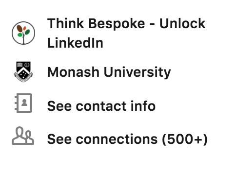how to optimise the linkedin profile education section