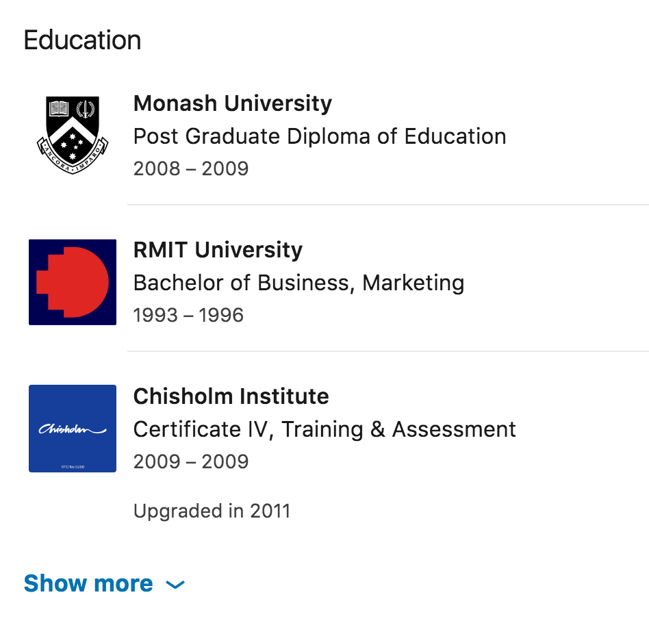 how to optimise your linkedin profile education section