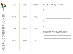 content marketing annual planner