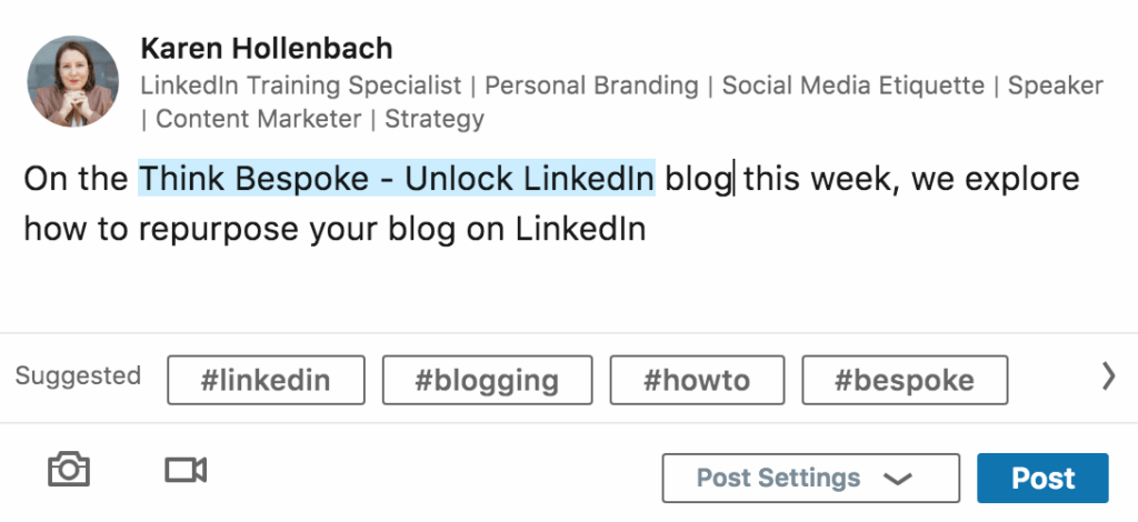 how to repurpose your blog on linkedin