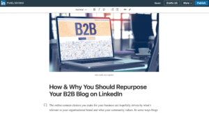 how to repurpose your b2b blog on linkedin