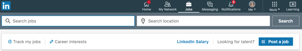 how to search for jobs on linkedin