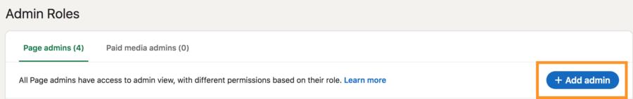 Add admin to Linkedin company page