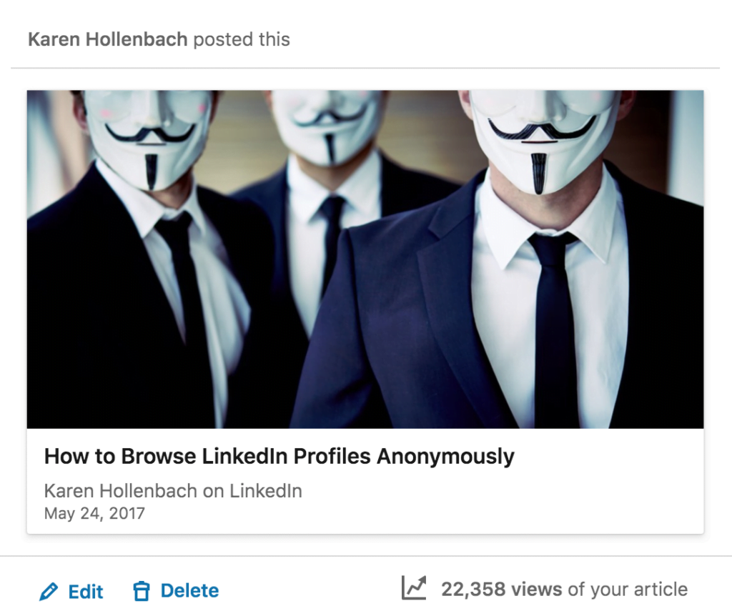 how to browse linkedin profiles anonymously