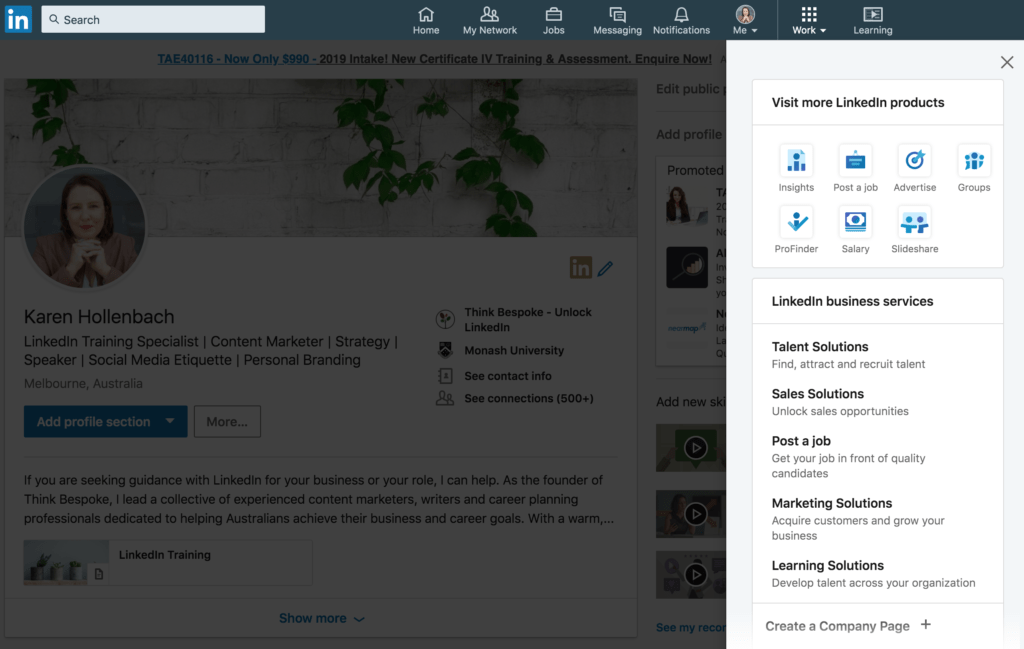 how to create a linkedin company page for your business