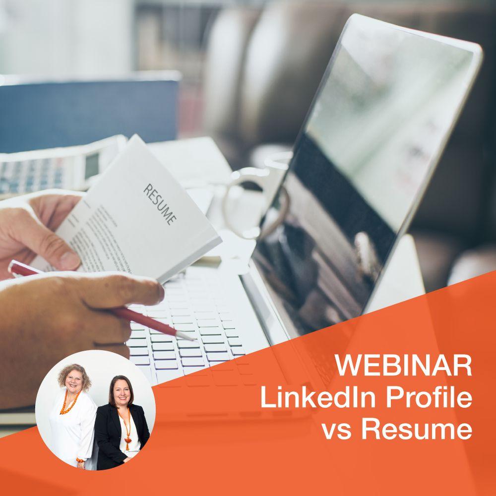 webinar  linkedin profile vs resume think bespoke