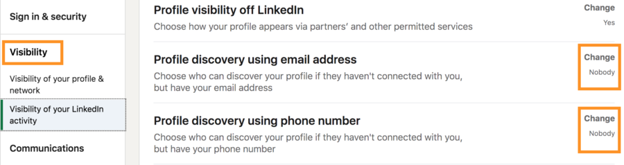 how to increase your security and privacy on linkedin