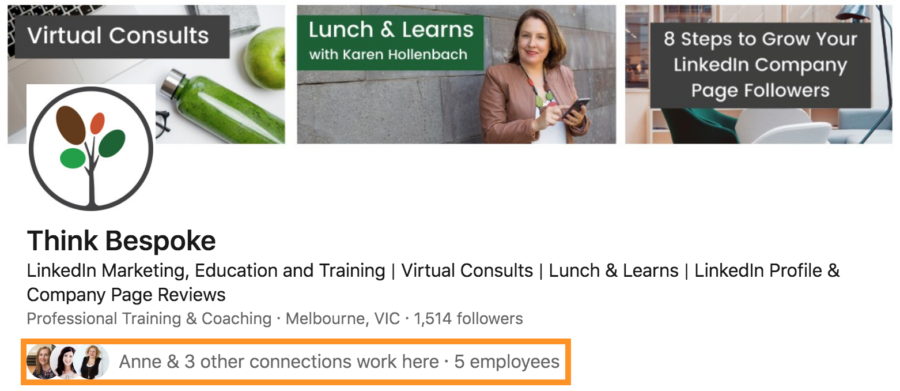 how to notify employees of linkedin company page updates