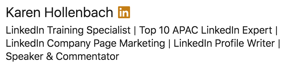 how to write a linkedin profile headline