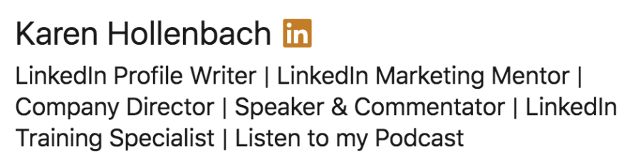 headline for linkedin profile