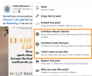 how to improve your linkedin newsfeed